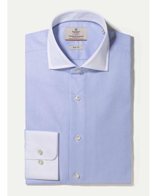 Hackett | Blue The Journey Mini Bengal Shirt for Men | Lyst