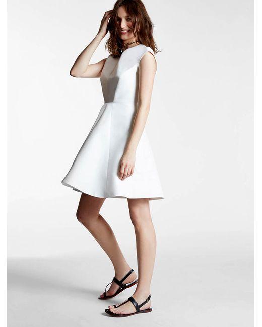Halston Heritage | White Silk Faille Dress | Lyst