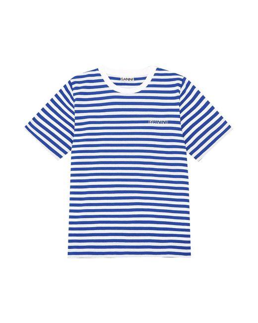 Ganni Blue Stripe Thin Software Jersey Tee