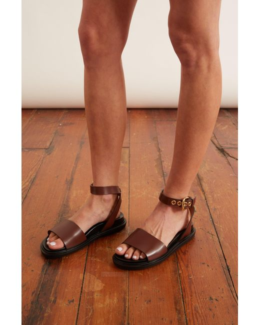 Marni Brown Fussbett Sandal