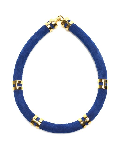 Lizzie Fortunato   Blue Double Take Necklace In Cobalt   Lyst
