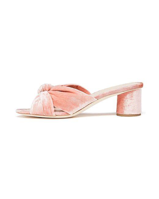 Loeffler Randall - Pink Celeste Mid Heel Knot Slide - Lyst