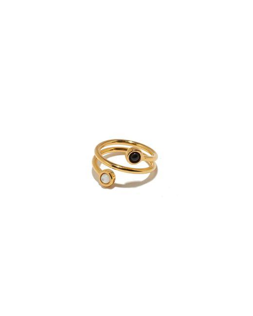 Lizzie Fortunato | Spiral Ring In Black + White | Lyst