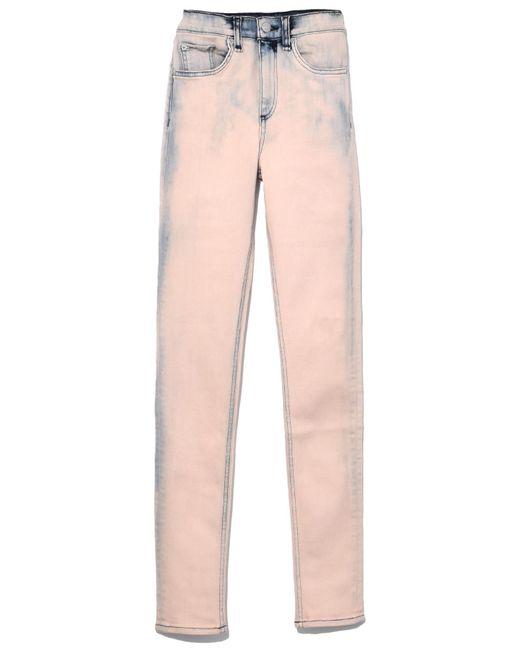 Rag & Bone - Pink High Rise Skinny In Bleach Blush for Men - Lyst