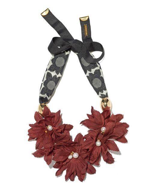 Lizzie Fortunato - Red Samburu Floral Collar - Lyst