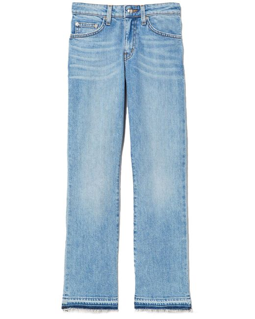 10 Crosby Derek Lam - Blue Gia Mid Rise Cropped Flare Jean In Light Wash - Lyst