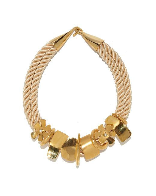 Lizzie Fortunato - Metallic Daisy Treasure Necklace - Lyst