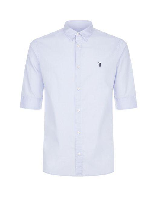 AllSaints | Blue Redondo Half-sleeve Shirt for Men | Lyst