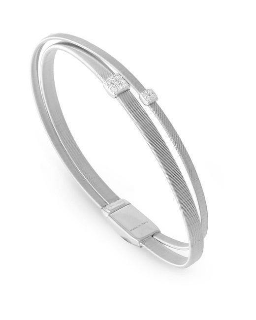 Marco Bicego - White Masai Double Strand Diamond Bracelet - Lyst