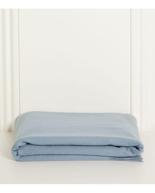 Johnstons Blue Cashmere Throw (190cm X 140cm) for men