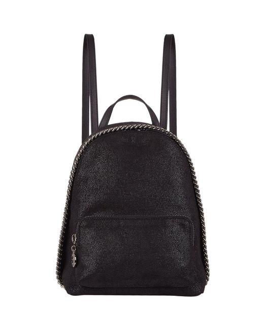 Stella McCartney   Black Mini Falabella Backpack   Lyst