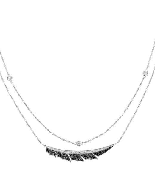 Stephen Webster Metallic White Gold Magnipheasant Pav Diamond Split Necklace