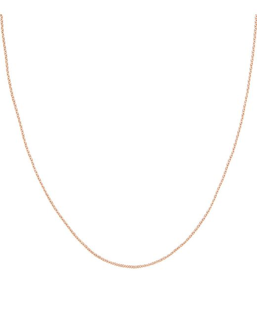Monica Vinader | Pink Rose Gold Plated Rolo Chain | Lyst