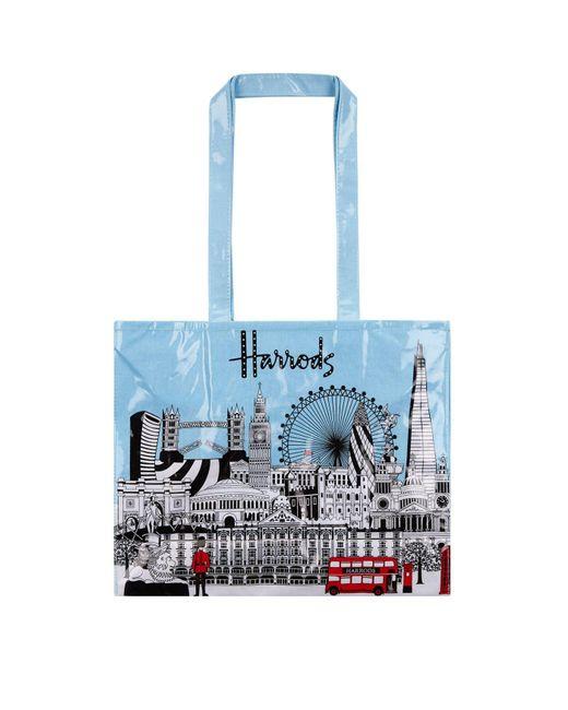 Harrods   Blue Bold London Tote Bag   Lyst