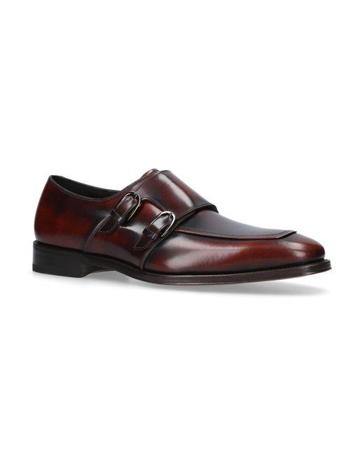 Ferragamo - Brown Chester Double Monk Shoes for Men - Lyst