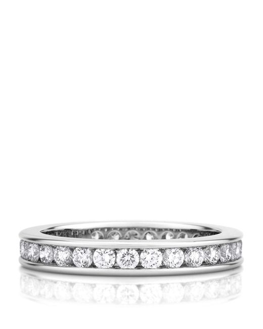 De Beers - Metallic Platinum And Diamond Eternity Band (3mm) - Lyst