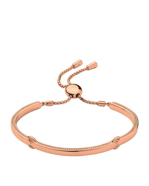 Links of London - Metallic Narrative Rose Gold Bracelet - Lyst