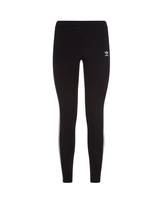 Adidas Originals Black 3-stripe Leggings