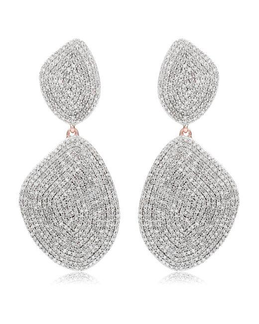 Monica Vinader - Metallic Nura Double Teardrop Cocktail Earrings - Lyst