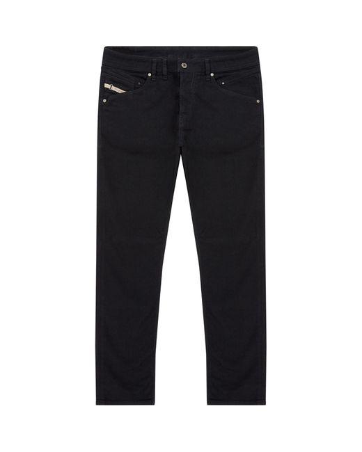 DIESEL Black Slim Flat Jeans for men