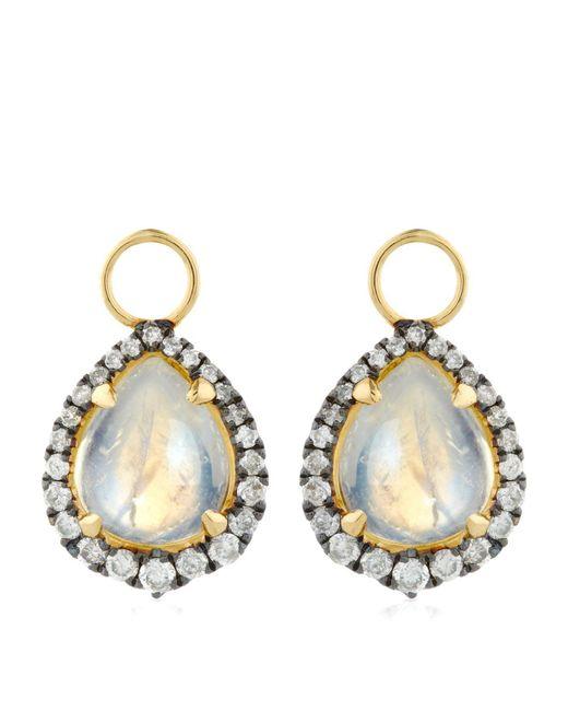 Annoushka | White Moonstone Earring Drops | Lyst