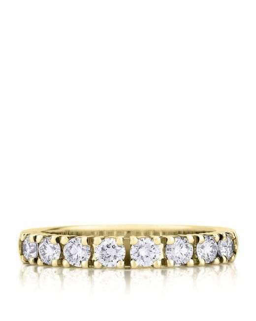 De Beers - Yellow Gold Prong-set Eternity Ring - Lyst