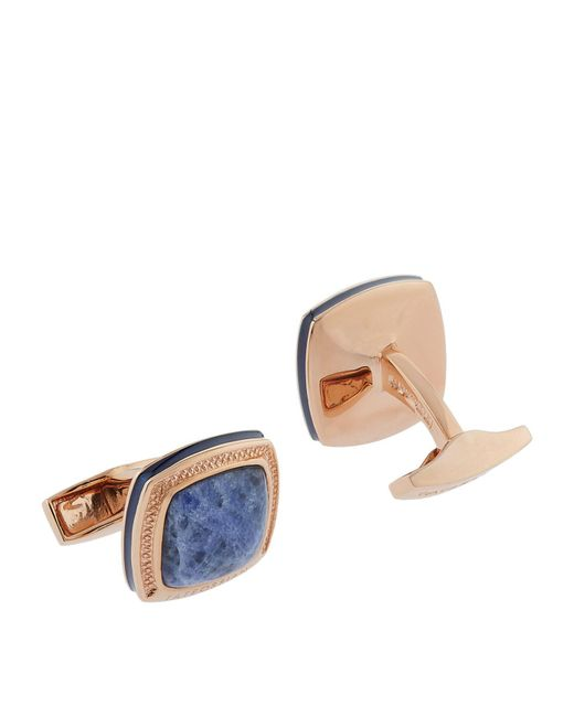 Tateossian - Pink Enamel Square Cufflinks for Men - Lyst
