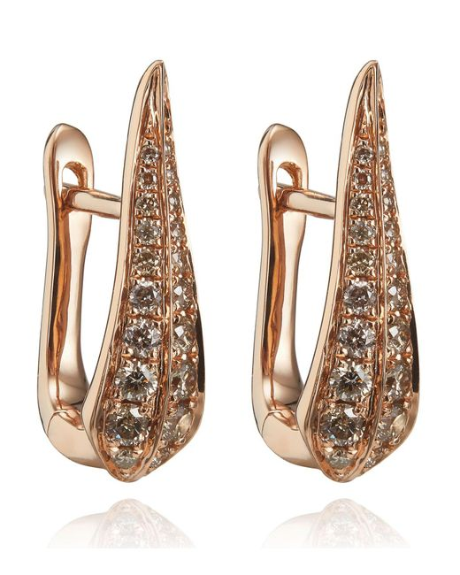 Annoushka - Metallic Diamond Hoop Earrings - Lyst