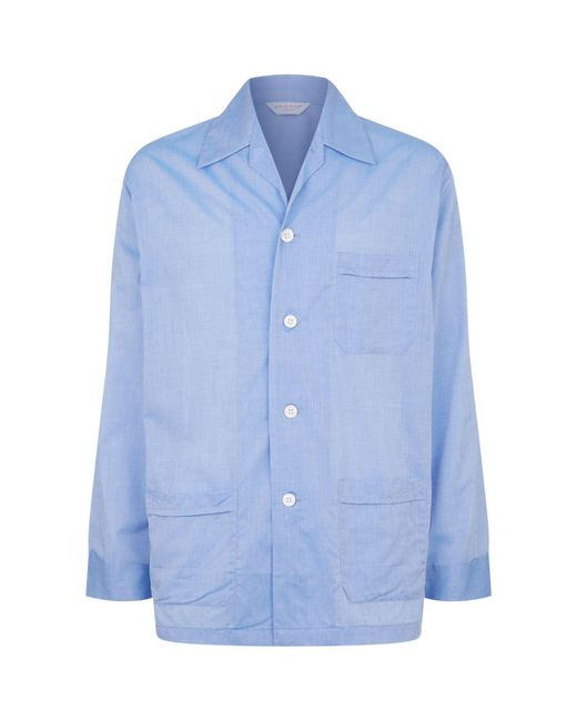 Derek Rose - Blue Amalfi Classic Fit Pyjama Set for Men - Lyst