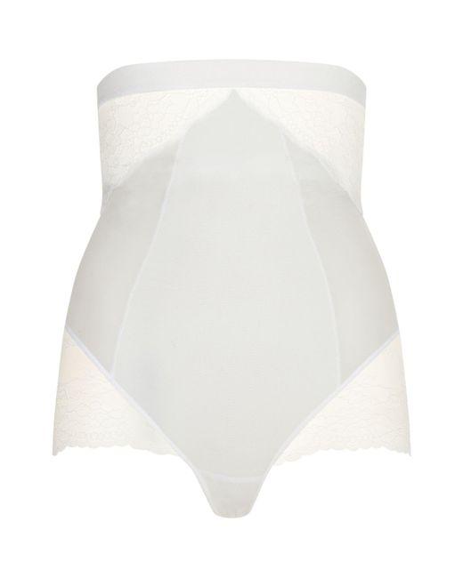 Spanx - White High Waist Lace Briefs - Lyst