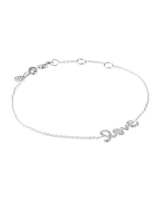 Sydney Evan | White Gold And Diamond Love Bracelet | Lyst