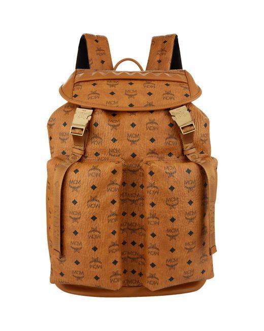 MCM | Brown Kreuzberg Backpack | Lyst