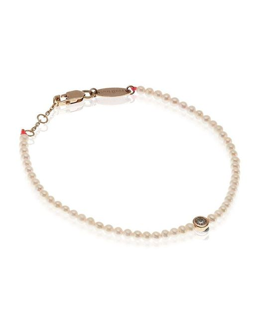 RedLine | White Pearl And Diamond Bracelet | Lyst