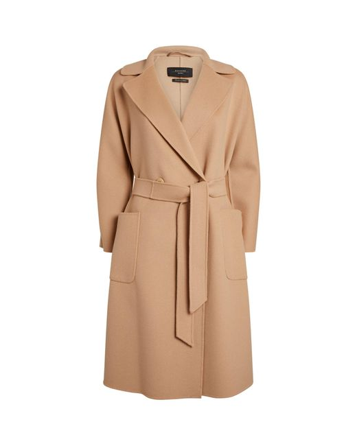Weekend by Maxmara Natural Wool-blend Coat