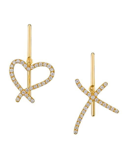 Stephen Webster - Metallic Yellow Gold And Diamond I Promise To Love You Earrings - Lyst
