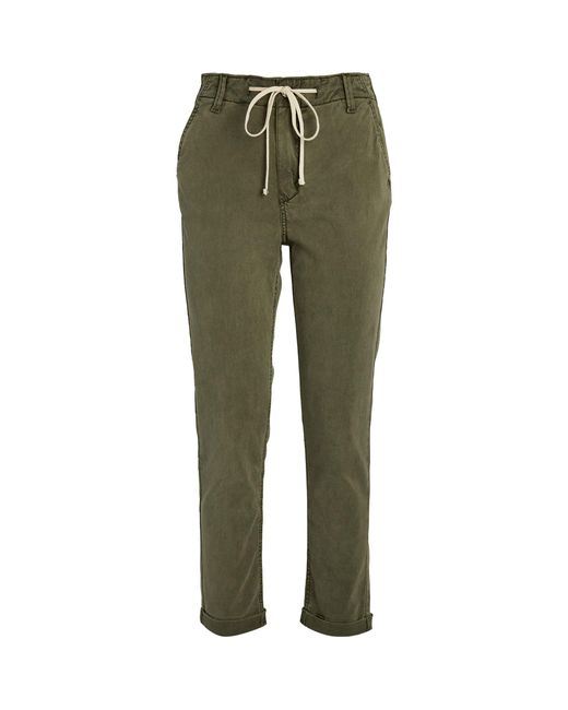 PAIGE Green Christy Drawstring Trousers