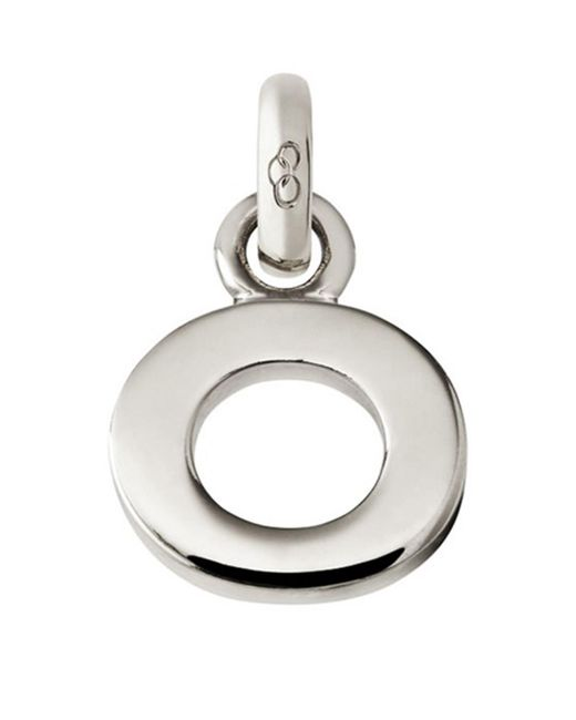 Links of London Metallic Sterling Silver Letter O Charm