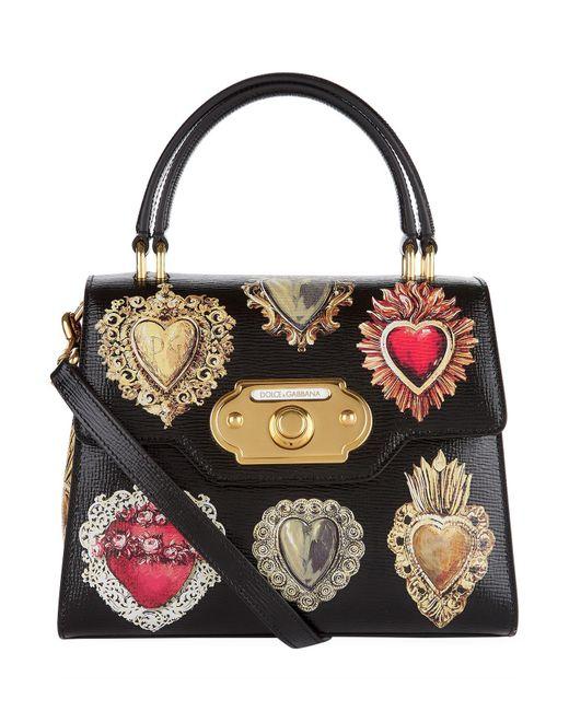 Dolce Gabbana Multicolor Welcome Queen Of Hearts Handbag Lyst