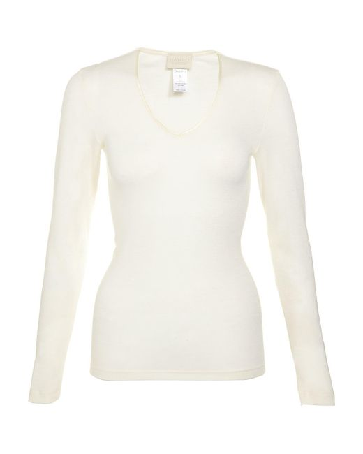 Hanro - Green Wool And Silk Long Sleeve Top - Lyst