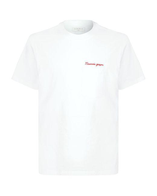 Sandro Natural Mauvais Garon T-shirt for men
