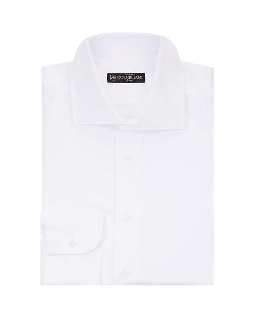 Corneliani - White Herringbone Cotton Shirt for Men - Lyst