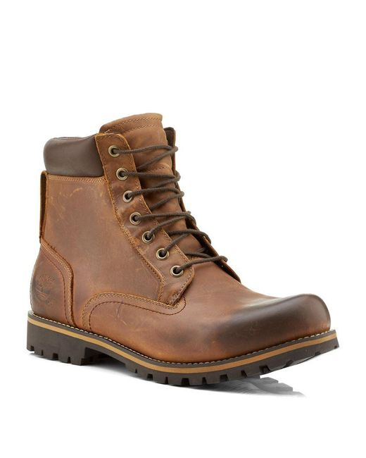 Timberland | Brown Rugged Waterproof Plain Toe Boot for Men | Lyst