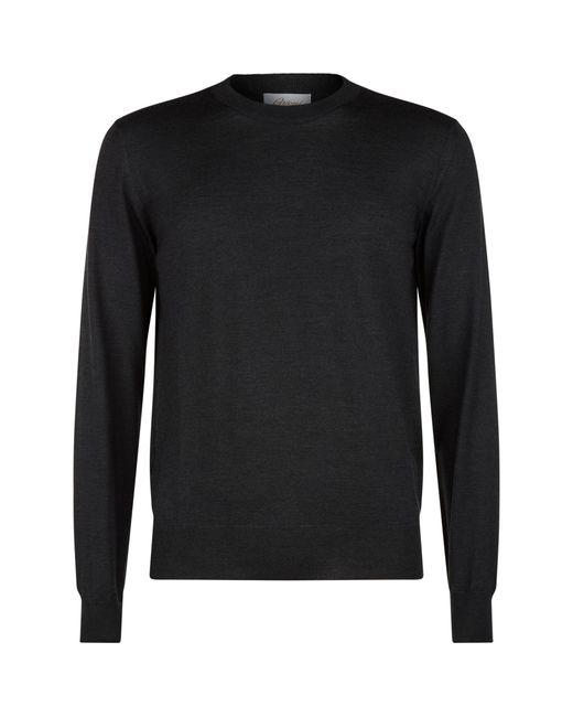 Brioni Gray Lightweight Crew Neck Sweater for men