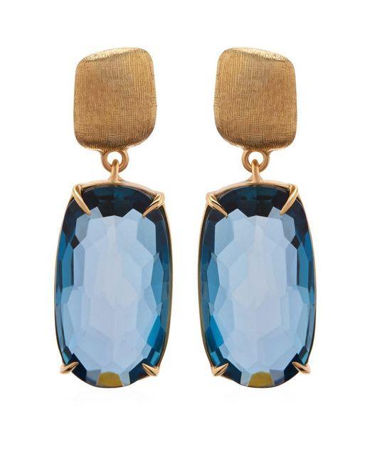 Marco Bicego | Blue Murano Topaz Drop Earrings | Lyst