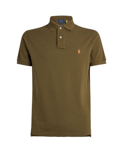 Polo Ralph Lauren Green Cotton Custom-fit Mesh Polo Shirt for men