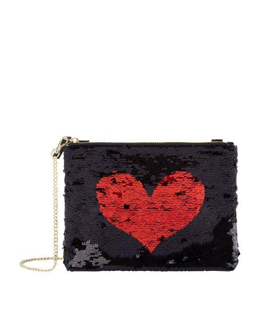Harrods - Red Exmoor Sequin Heart Chain Bag - Lyst