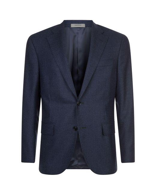 Corneliani - Blue Wool Birdseye Blazer for Men - Lyst