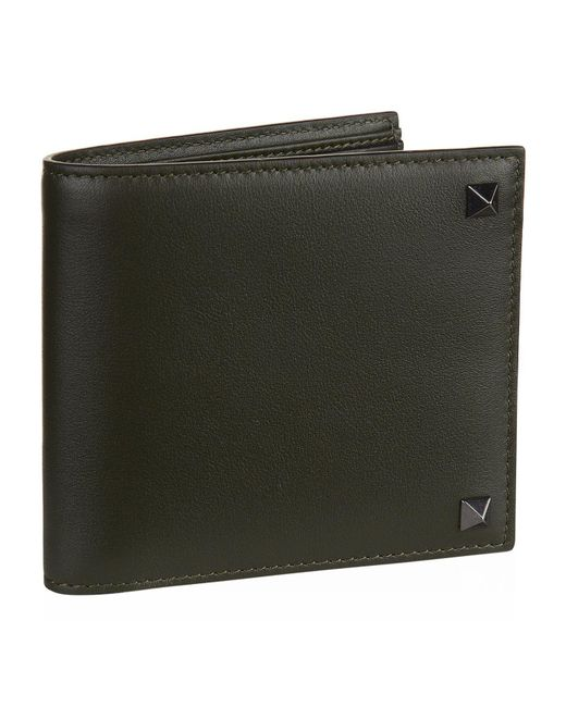 Valentino | Green Rockstud Bifold Wallet for Men | Lyst