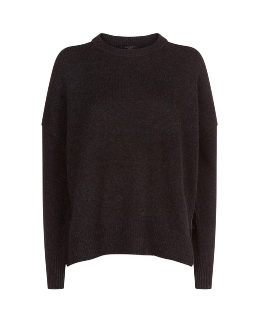 AllSaints | Black Dasha Cashmere Sweater | Lyst
