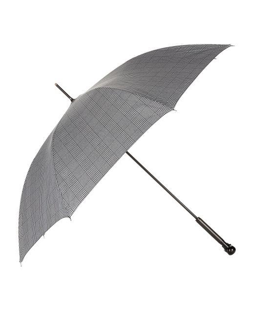 Alexander McQueen | Black Prince Of Wales Skull Handle Umbrella | Lyst